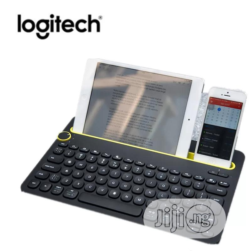 Logitech K480 Bluetooth Multi-device Portable Keyboard | Accessories for Mobile Phones & Tablets for sale in Ikeja, Lagos State, Nigeria