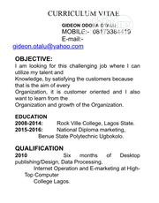 Accounting & Finance CV | Accounting & Finance CVs for sale in Lagos State