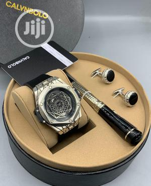 CALVNBOLO Leather Watch/ Pen /And Cufflinks   Watches for sale in Lagos State, Lagos Island (Eko)