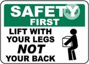 Construction Site Safety Signage | Safety Equipment for sale in Lagos State, Badagry
