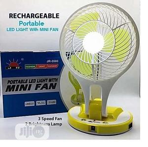 Rechargeable Mini Fan With LED Light | Home Appliances for sale in Lagos State, Ikeja