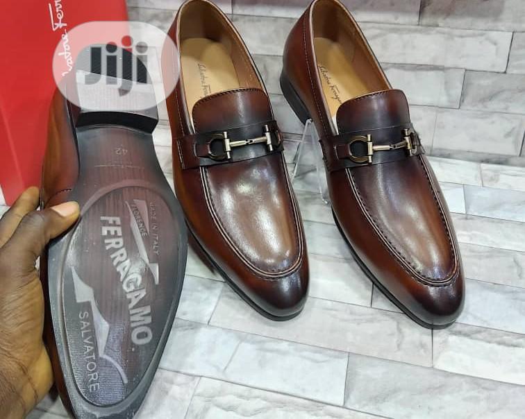 Original Salvador Ferragamo Men's Quality Leather Shoes