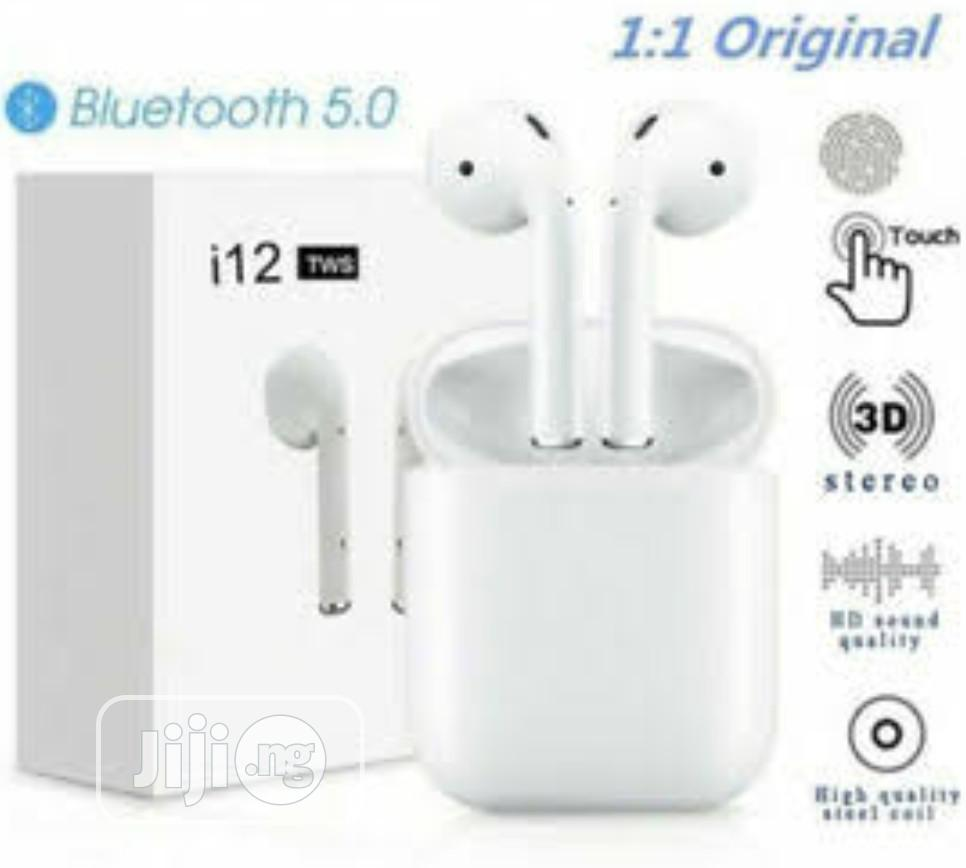 I12 And I13 Air Wireless Bluetooth With Free Silicone Case | Headphones for sale in Ojo, Lagos State, Nigeria
