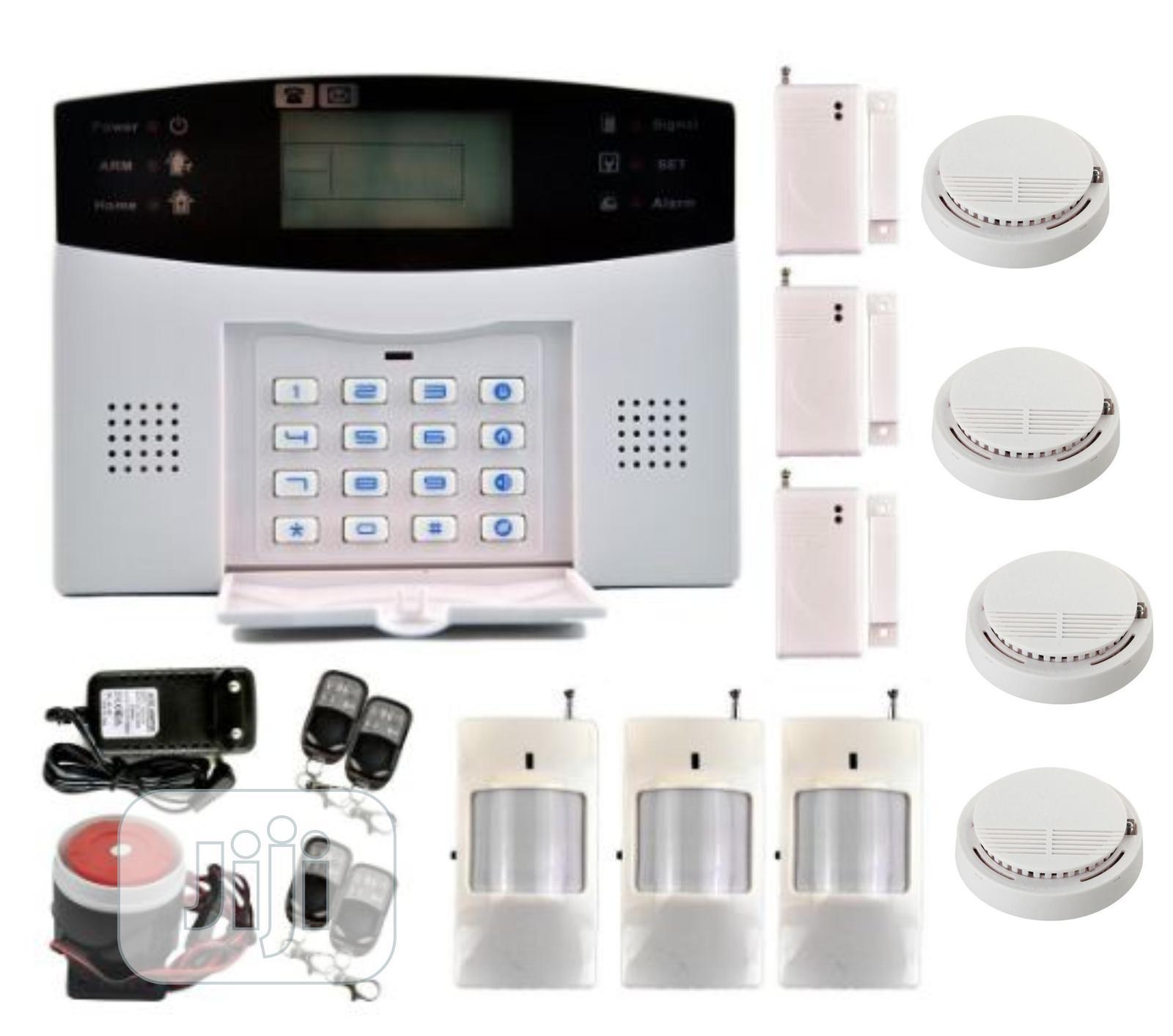 Gsm Burglary Alarm System +4pcs Smoke +3pcs PIR+3pcs Contact Sensors