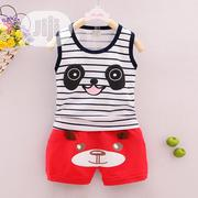2 PCS Striped Vest And Short   Children's Clothing for sale in Lagos State, Oshodi-Isolo