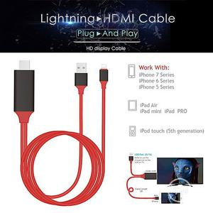 Plug & Play Lightning To HDMI HDTV TV Adapter AV Cable 1080P | Accessories & Supplies for Electronics for sale in Lagos State, Ikeja