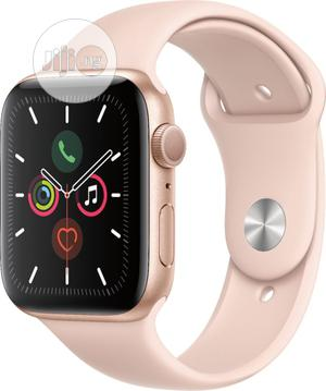 Apple Watch Series 5 GPS, 44mm Gold Aluminum Case | Smart Watches & Trackers for sale in Lagos State, Ikeja