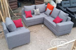 L-Shaped Sofa With a Single Seater Chair - Fabric Couch   Furniture for sale in Lagos State