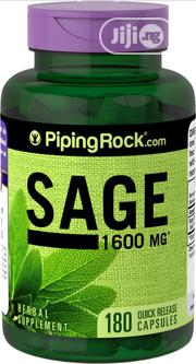 Sage 1600 Mg - 180 Quick Release Capsules | Vitamins & Supplements for sale in Lagos State, Ipaja