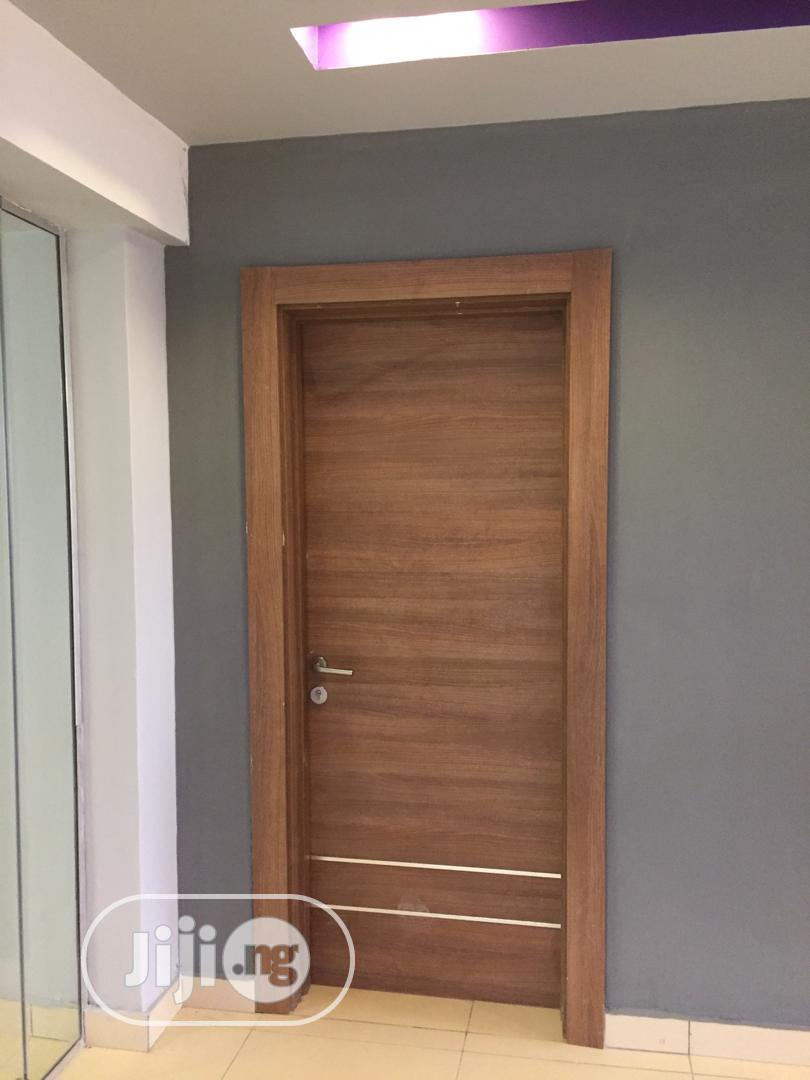Archive: Classy Hdf Door With Chrome Lines Design