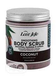Love Jojo Coconut Smoothing Body Scrub Grey 258 Ml | Skin Care for sale in Lagos State, Amuwo-Odofin