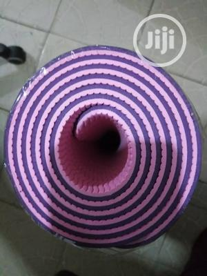 Double Color Yoga Mat You Can Use Both Side   Sports Equipment for sale in Lagos State, Surulere
