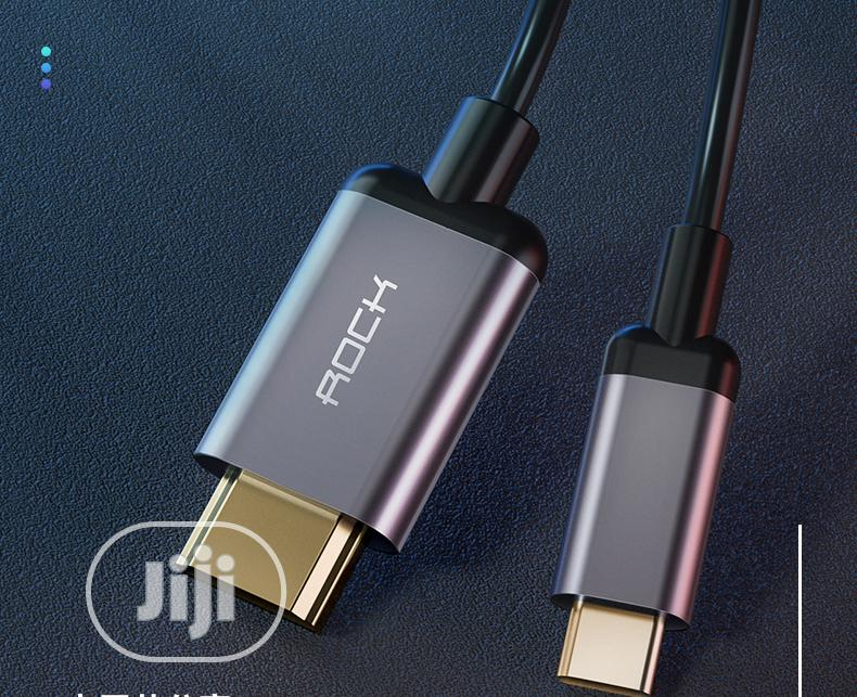 Rock H1 Type C To Hdmi Converter 5m Support HD 4k *2k Display