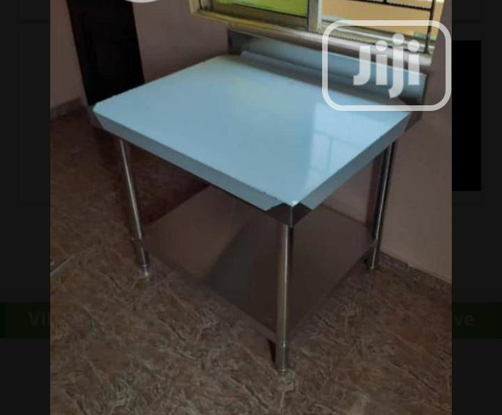 Quality Stainless Steel Working Table With Back Up And Down