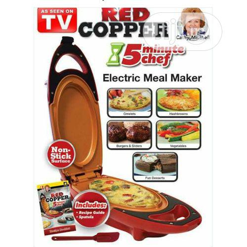 Red Copper 5 Minute Chef Electric Cooker Double-coated