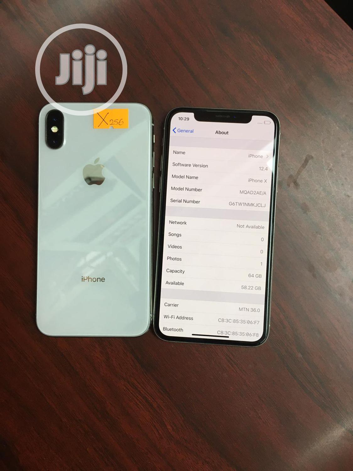 Apple iPhone X 64 GB White   Mobile Phones for sale in Wuse 2, Abuja (FCT) State, Nigeria