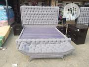 6 By 6 Upholstery Bedframe With Imported Mattress | Furniture for sale in Lagos State, Ojo