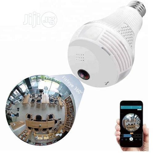 Wireless Wifi Led Bulb Panoramic IP Camera