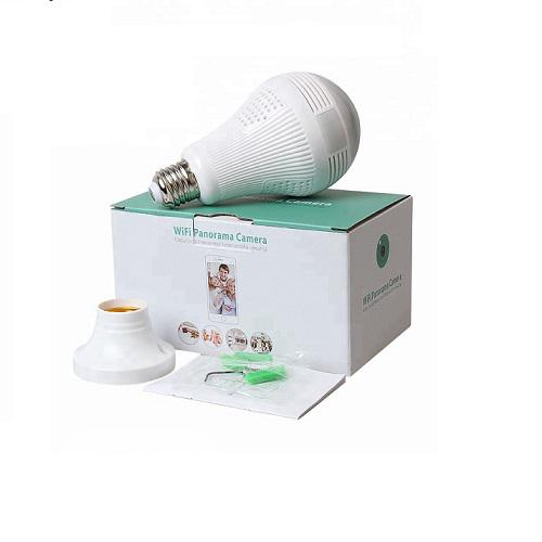 Wireless Wifi Led Bulb Panoramic IP Camera | Security & Surveillance for sale in Ikeja, Lagos State, Nigeria