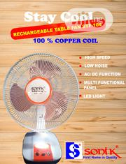 "12"" Sonik Table Rechargeable Fan 