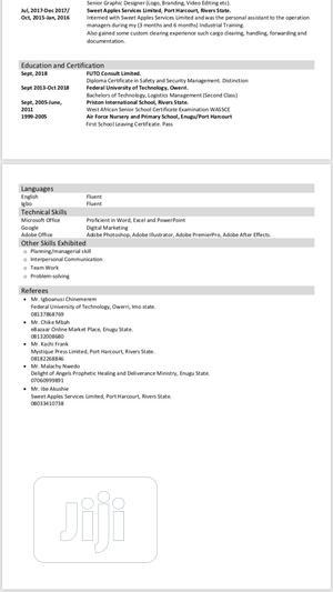 Graphic Designer   Computing & IT CVs for sale in Enugu State, Enugu