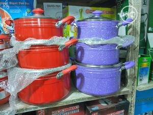 3pcs Non-Stick Pots - Red | Kitchen & Dining for sale in Lagos State, Ajah