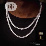 Diamond Tennis Necklace With Pendant | Jewelry for sale in Lagos State, Lagos Island