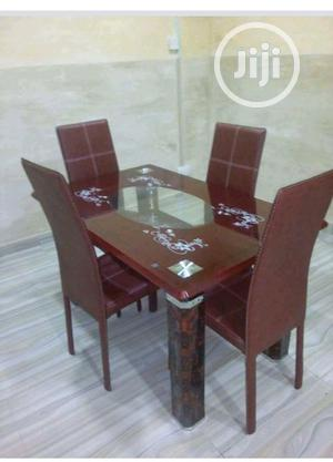 Glass Dinning Table With 4 Chairs | Furniture for sale in Lagos State, Ojo