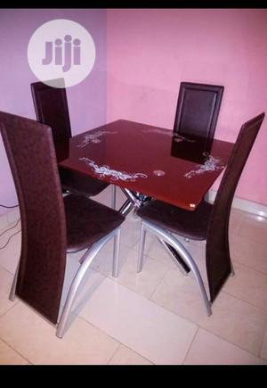Glass Square Dinning Table With 4 Chairs | Furniture for sale in Lagos State, Ojo