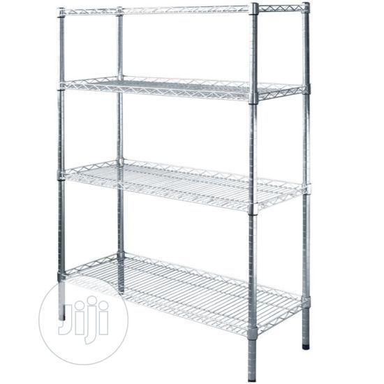 Storage Chrome Wire Shelves 4ft