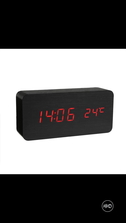 Wood Led Alarm Clock