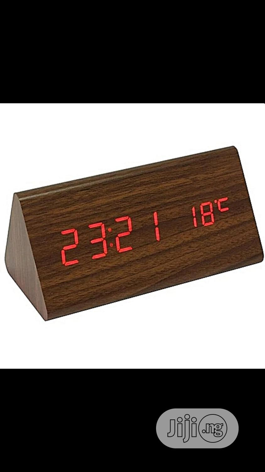 Wood Led Alarm Clock | Home Accessories for sale in Lagos Island, Lagos State, Nigeria