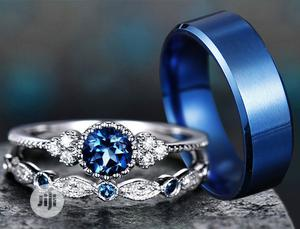 Silver and Sapphire Wedding Rings Set   Wedding Wear & Accessories for sale in Lagos State, Ikorodu