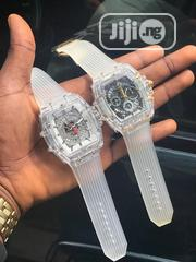 High Quality Transparent Chronograph Working Hublot Wristwatch | Watches for sale in Lagos State, Lagos Island