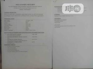 Customer Service CV | Customer Service CVs for sale in Ondo State, Ondo / Ondo State