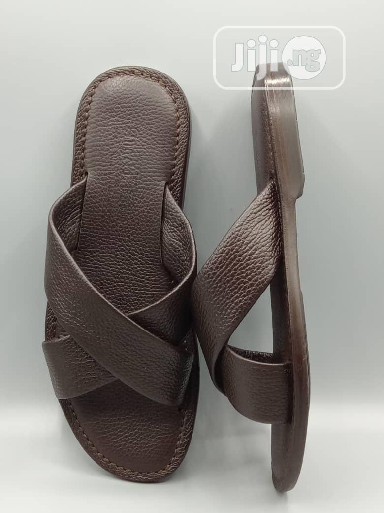ANGELO FABIO Italian Slippers/Sandal (Brown) | Shoes for sale in Victoria Island, Lagos State, Nigeria