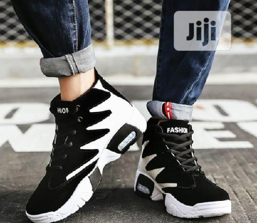Archive: Elegant Designer Athletic Ankle Sneakers V2- Black