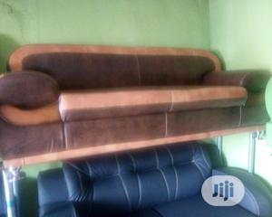 L-Shape Sofa Chair With Semi Skin Leather 7 Seater Set | Furniture for sale in Lagos State, Oshodi