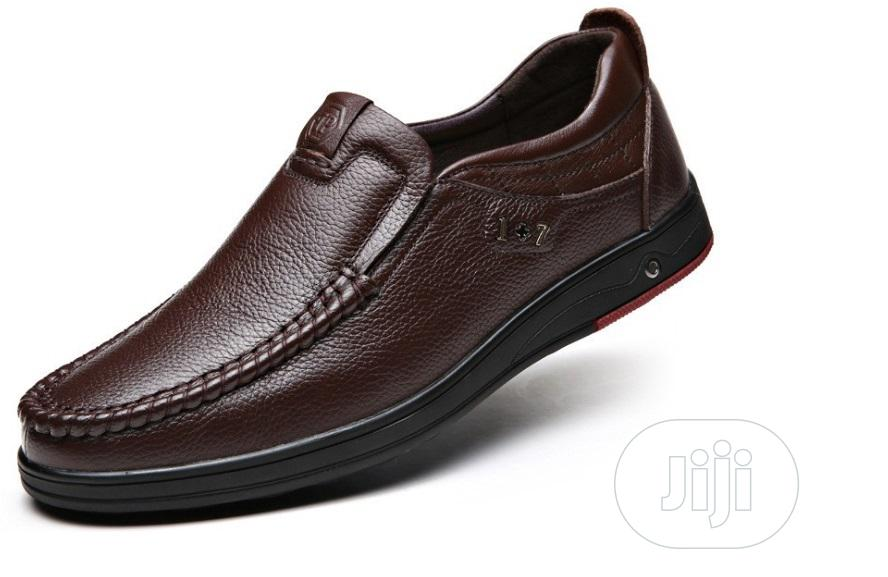 Leather Men's Shoes Brown | Shoes for sale in Ikeja, Lagos State, Nigeria
