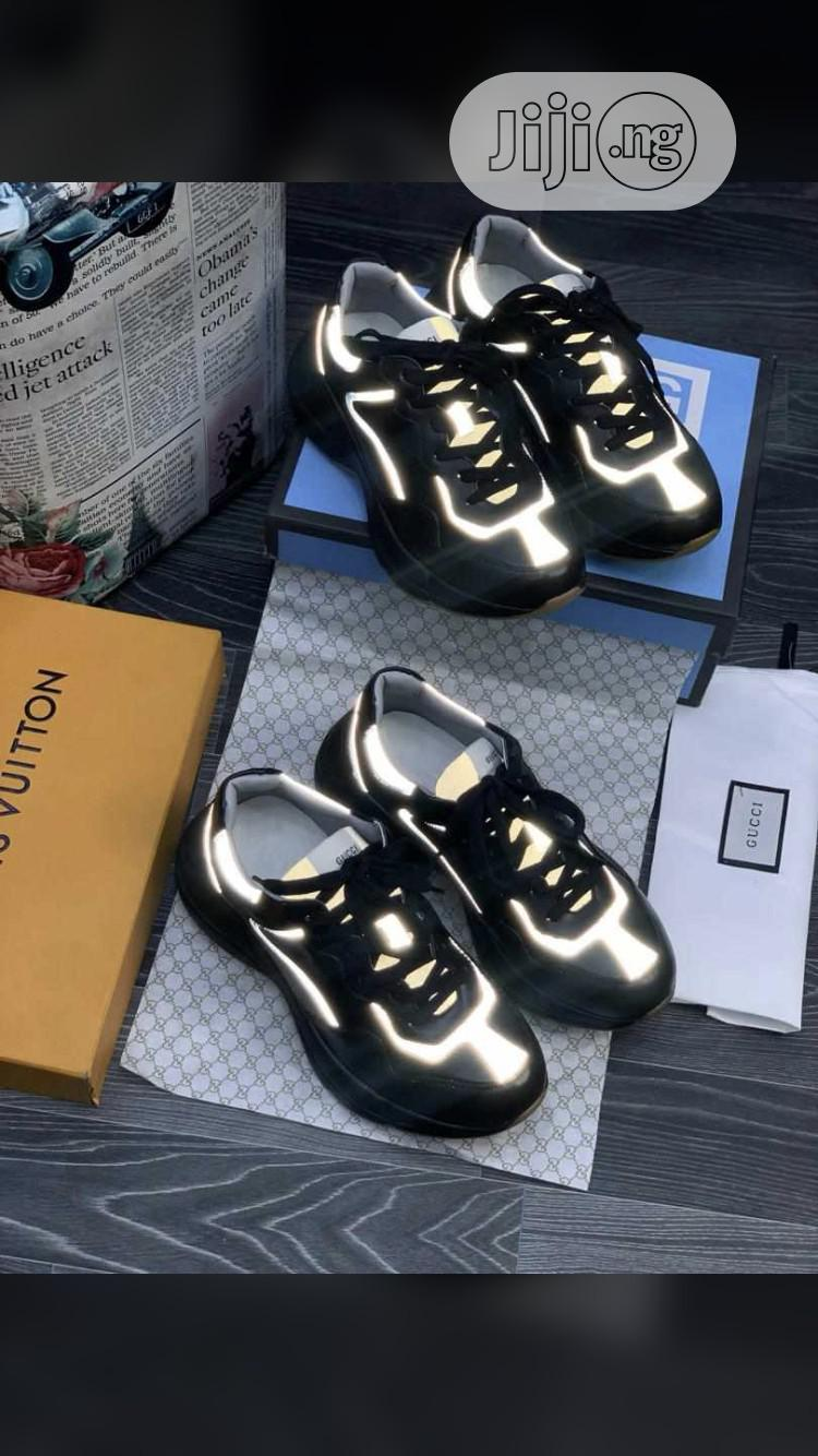 Gucci Black Sneakers Available | Shoes for sale in Surulere, Lagos State, Nigeria