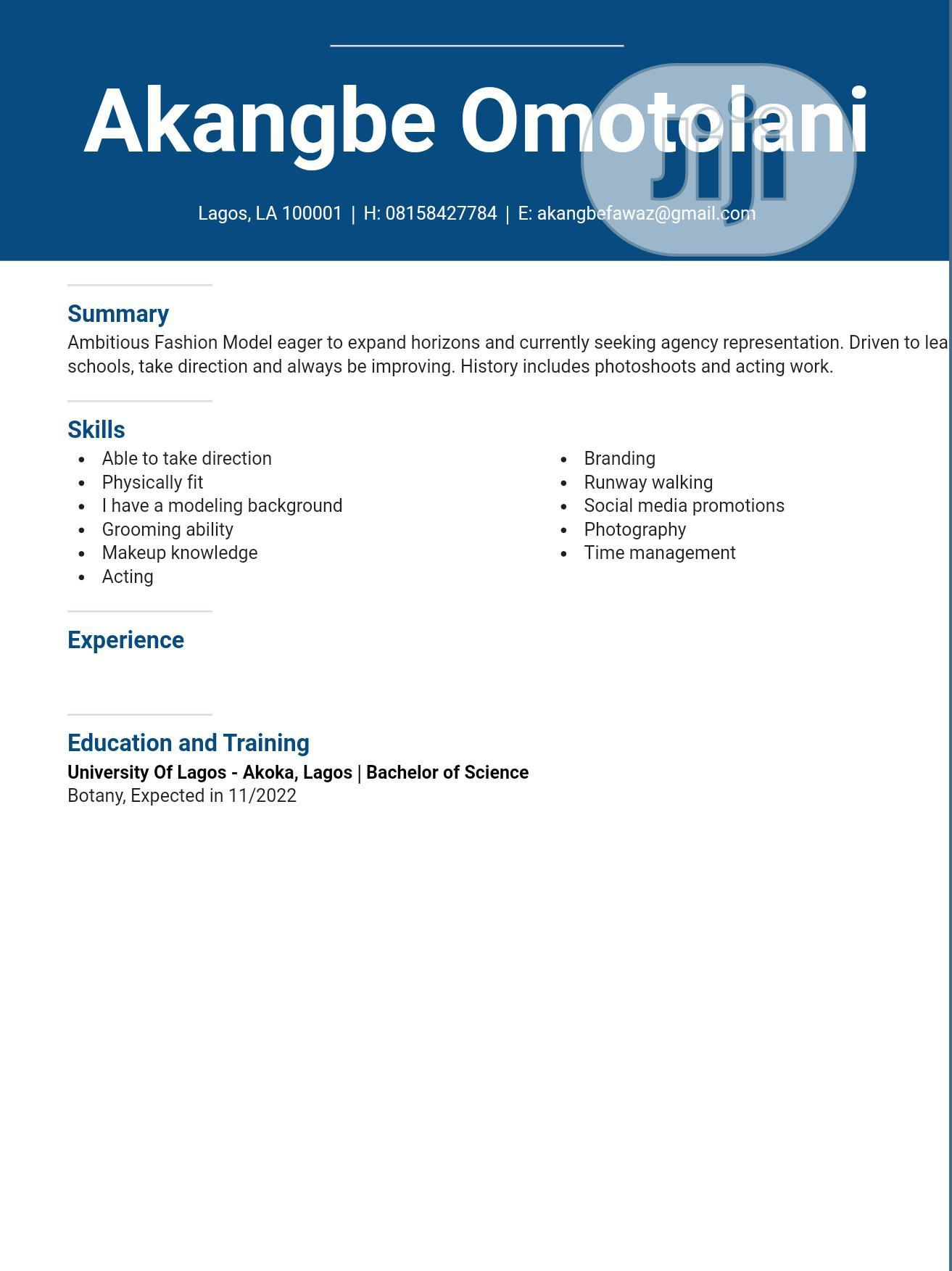 Executive Models   Arts & Entertainment CVs for sale in Lagos Island (Eko), Lagos State, Nigeria
