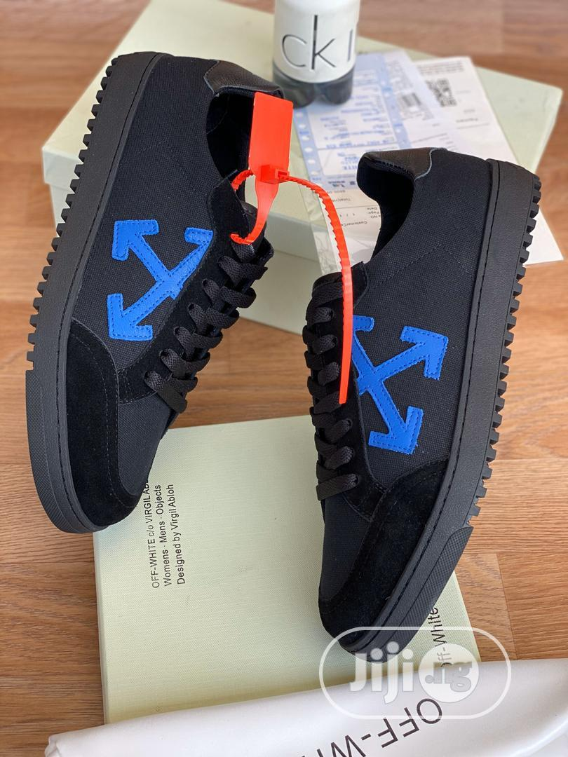 Offwhite Black Sneakers Available | Shoes for sale in Surulere, Lagos State, Nigeria