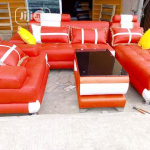 Sofas Chair L-Shape High Quality Leather 7seater Set With Center Table | Furniture for sale in Lagos State, Oshodi