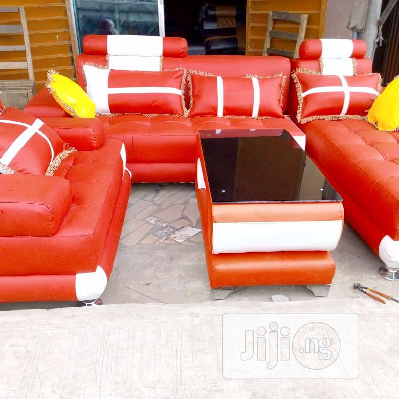 Archive: Sofas Chair L-Shape High Quality Leather 7seater Set With Center Table