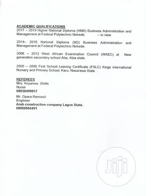 Junior Accountant   Accounting & Finance CVs for sale in Imo State, Oguta