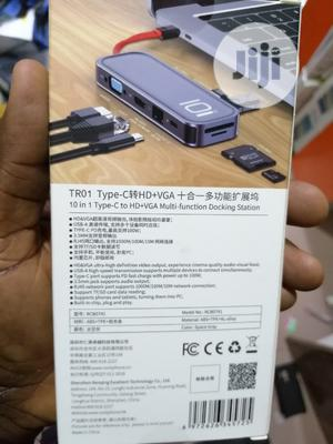Rock 10in1 Type C Multi-Functional Docking Station Hub | Computer Accessories  for sale in Lagos State, Ikeja