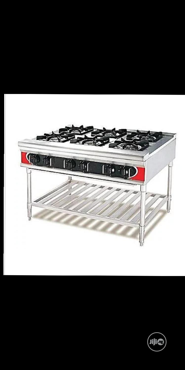 Six Burners Gas Cooker Industrial Gas Cooker 6burners.