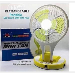 Rechargeable Led Light With Mini Fan With 3wts Solar Panel   Solar Energy for sale in Lagos State, Mushin
