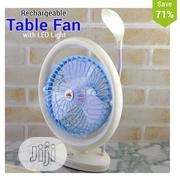 JR Rechargeable Table Fan With LED Light, JR-2018 With Solar Panel | Solar Energy for sale in Lagos State, Mushin