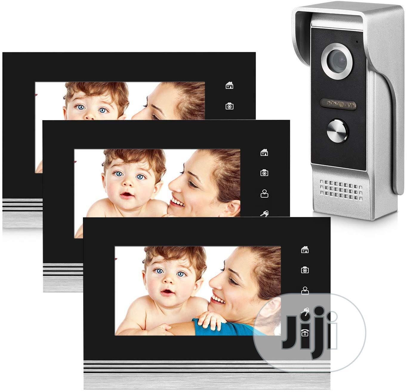 Video Doorbell Intercom Wired Doorphoe 1 Camerawith3 Monitor